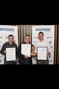 Apprentice of the Year top three placegetters